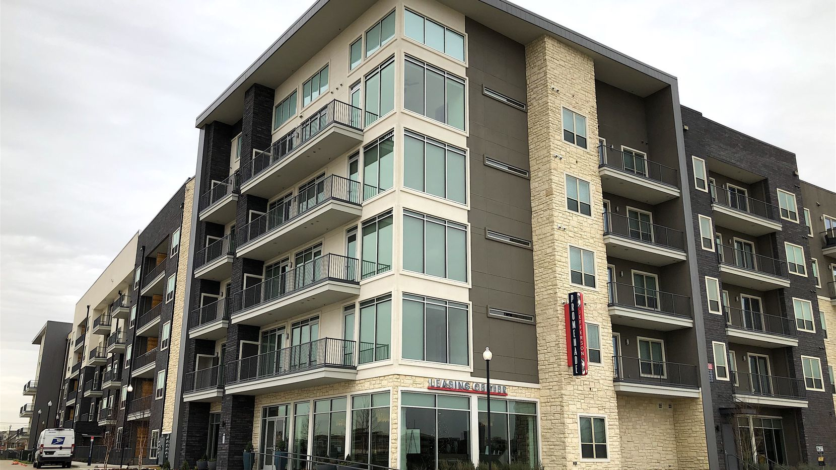 The new Jefferson Promenade apartments are near the Irving Convention Center and Toyota Music Factory.