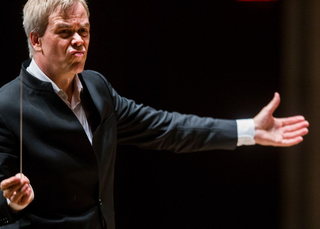 Hannu Lintu conducts the Dallas Symphony Orchestra on  Sept. 21.