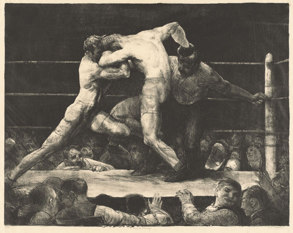 George Bellows, A Stag at Sharkey's, 1917, lithograph, National Gallery of Art, Washington, Andrew W. Mellon Fund