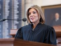 Former Texas Supreme Court Judge Eva Guzmán announced her campaign for Texas Attorney General Monday. There is now a three-way race between incumbent Ken Paxton and sitting Texas Land Commissioner George P. Bush.