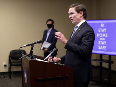 Dallas County Judge Clay Jenkins speaks during a news conference on Aug. 13, 2020.  Jason Janik (special contributor)