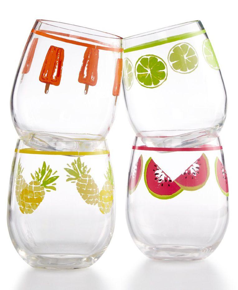 Martha Stewart Collection four-piece stemless wine glass set, $28.99, Macy's