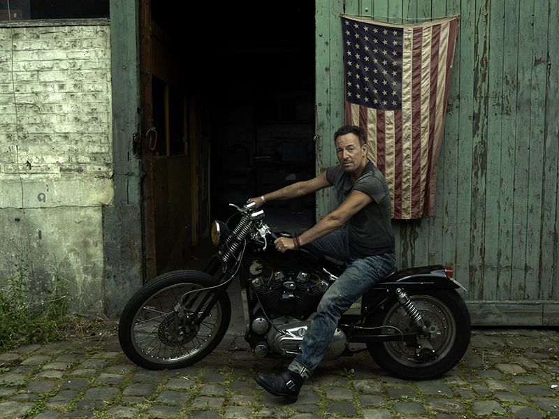 Annie Leibovitz's portrait of Bruce Springsteen on tour, Paris, 2016, from Annie Leibovitz: Portraits 2005-2016, published by Phaidon.