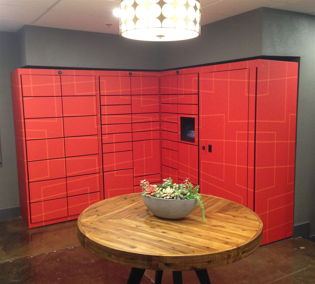 The mailroom in the Manor House has new automated package lockers.
