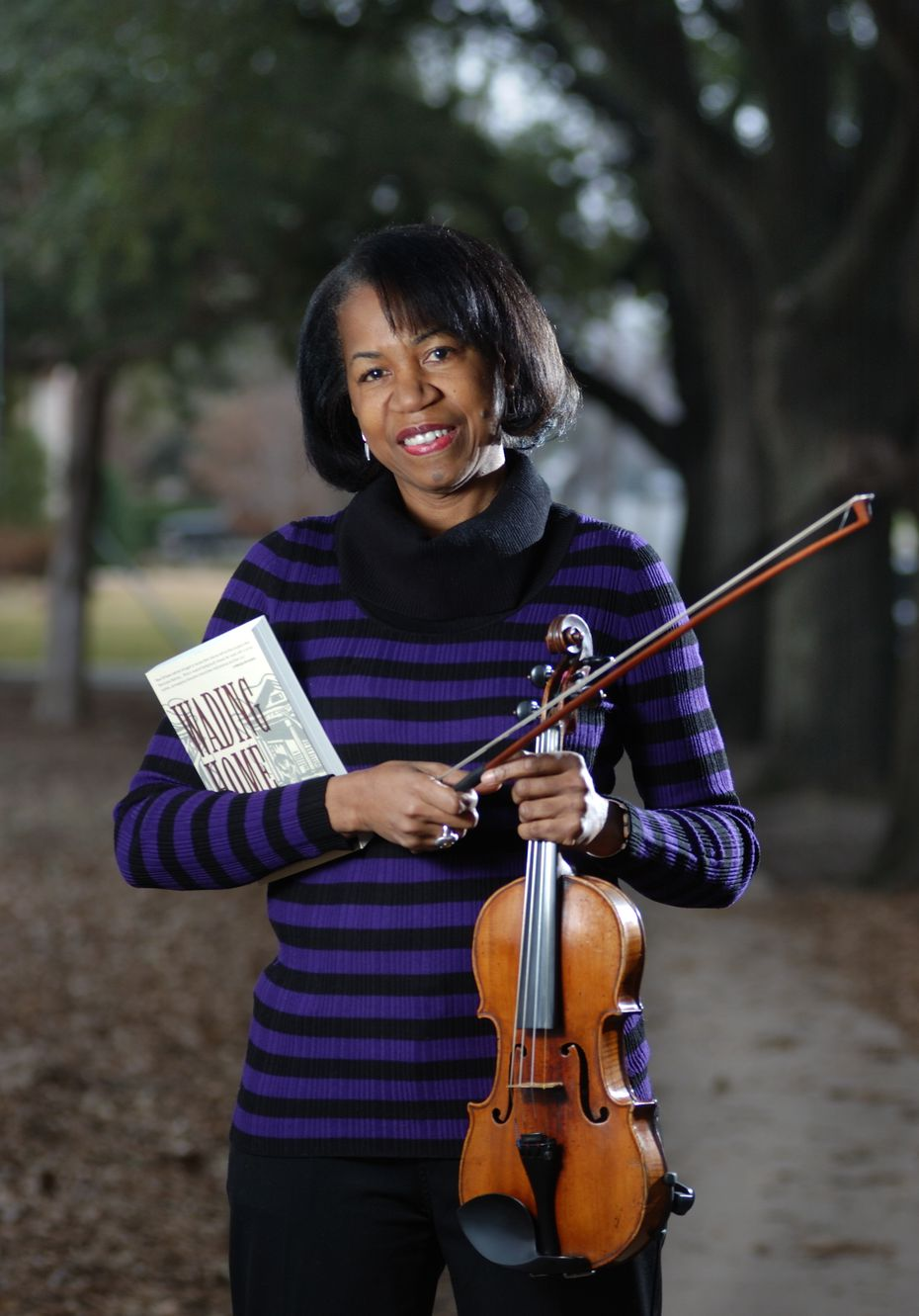 """Rosalyn Story, author of """"Wading Home,"""" also is a violinist with the Fort Worth Symphony."""