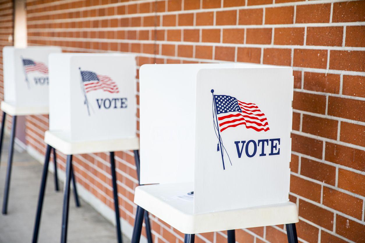 Una casilla de votación en Estados Unidos. iStock.