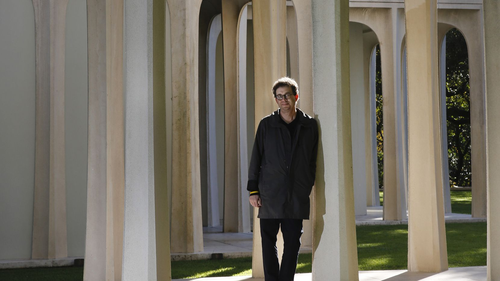 Dallas Morning News architecture critic Mark Lamster is pictured at the famous Beck House, a work by architect Philip Johnson, in 2018.