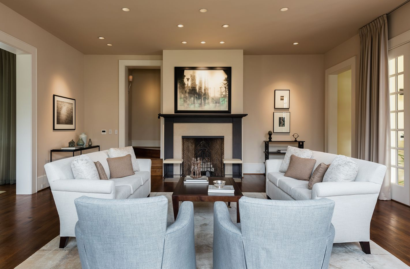The Highland Park house has three bedrooms and four baths.