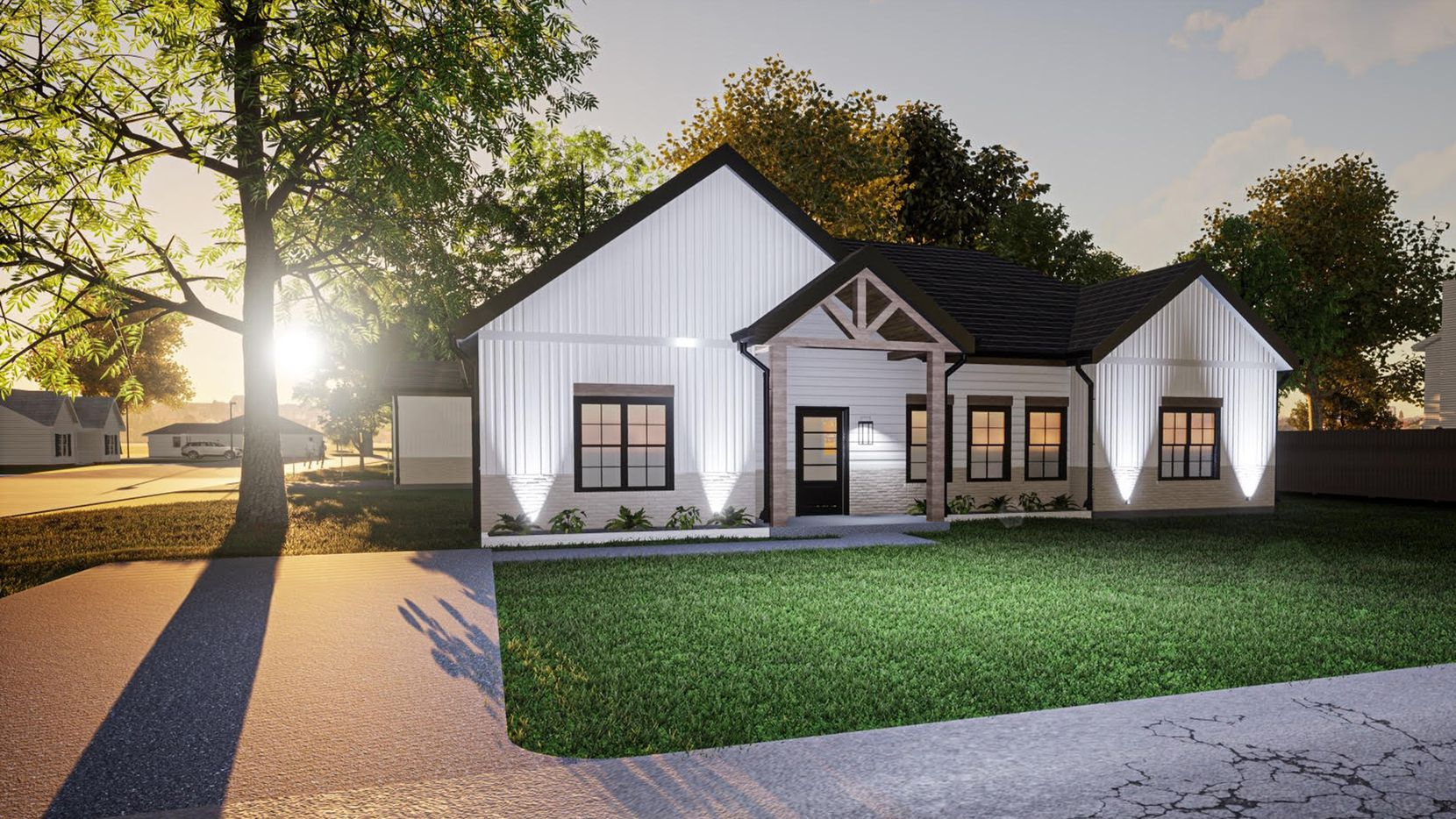 The home at 806 S. Jefferson In Kaufman is available for buyer finish customization and is priced at $305,000.
