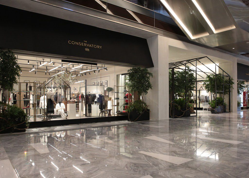 The Conservatory opened Friday in New York's Shops at Hudson Yards. The store is a new concept that merges luxury online shopping with physical space from Brian Bolke, co-founder of Dallas-based Forty Five Ten.