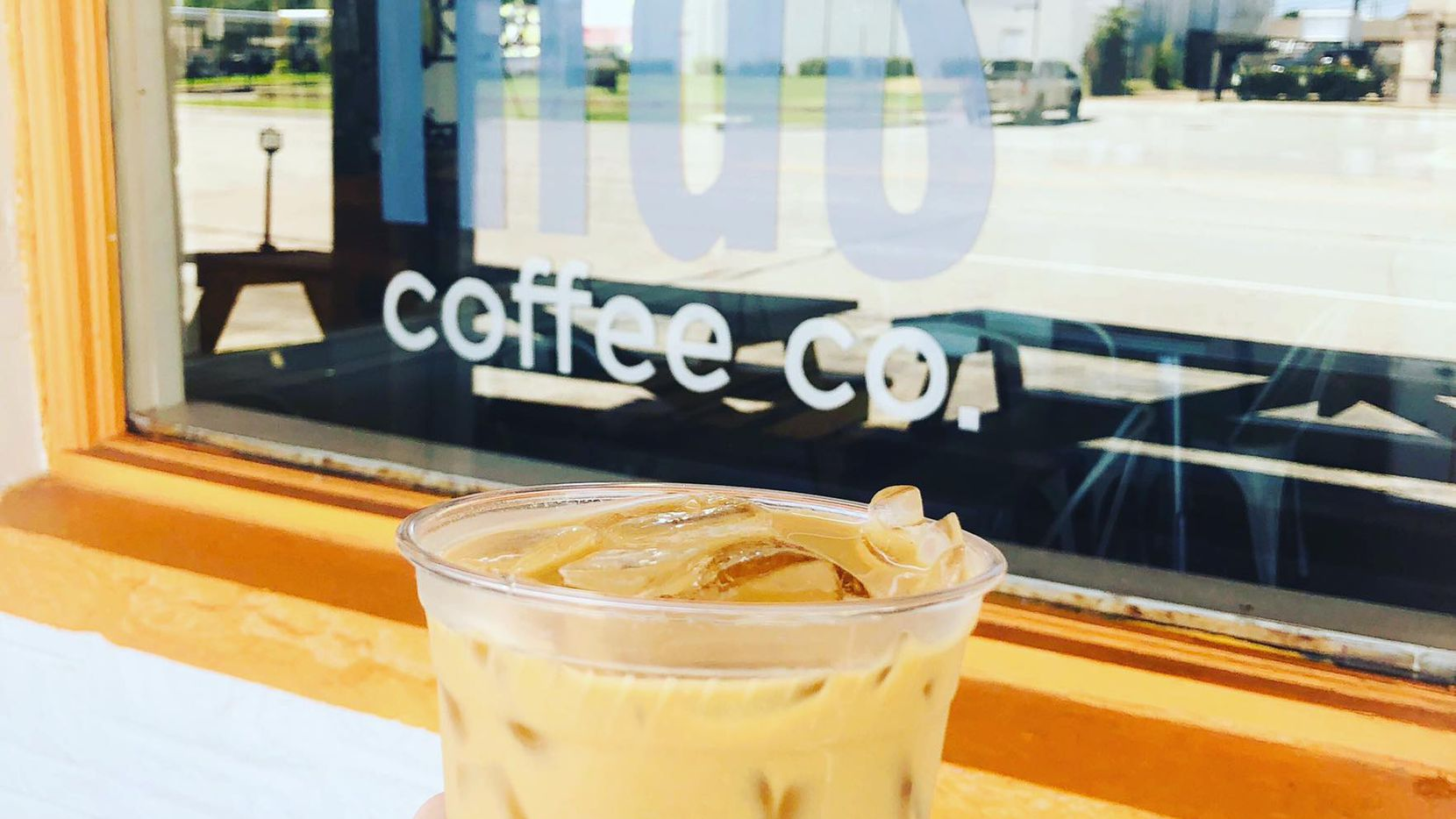 Mas Coffee Co. features locally roasted beans from Avoca Coffee Roasters in Fort Worth and is one of the places in Grand Prairie where you can celebrate National Coffee Day.