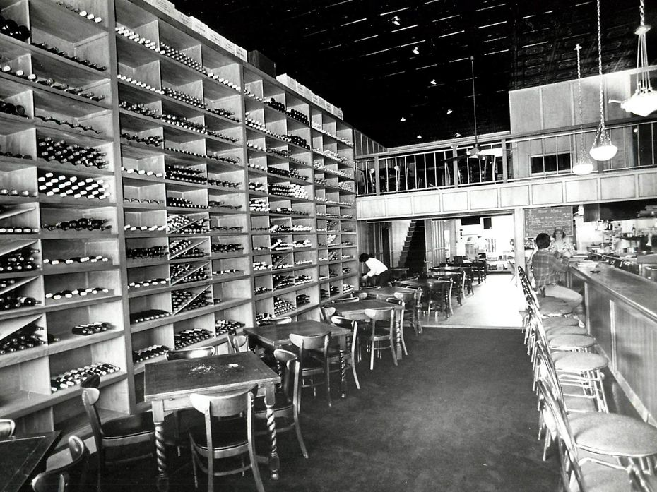 """This archival photo shows The Wine Press, a wine bar that opened """"after the rough and tumble J. Alfred's"""" closed on Oak Lawn Avenue in Dallas."""