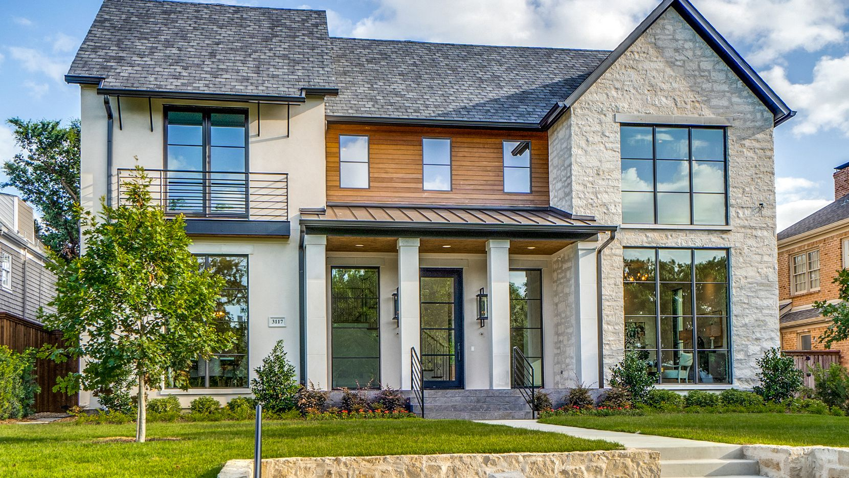 The newly constructed five-bedroom residence at 3117 Caruth Blvd. in University Park was built by Lyle Turner of MALT Homes.