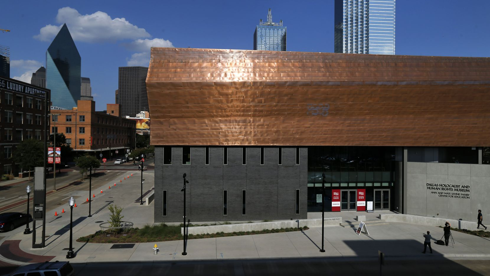 An exterior view of the Dallas Holocaust and Human Rights Museum in downtown Dallas, Tuesday, September 10, 2019. (Tom Fox/The Dallas Morning News)