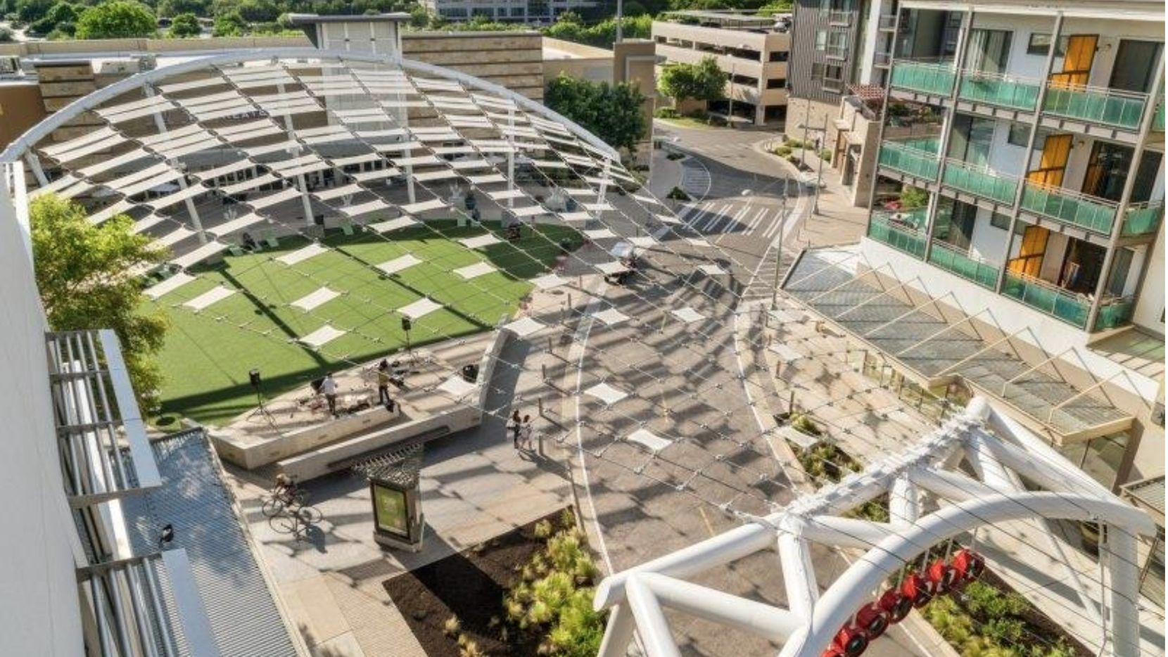 The planned mixed-use project surrounds a new public plaza.