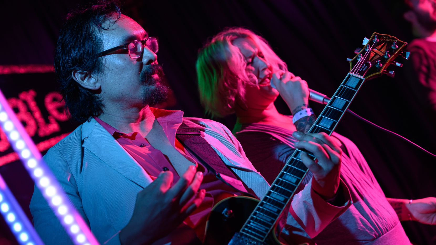 The Teen Wolves, an '80s tribute band, performed at Doublewide in Dallas in September.