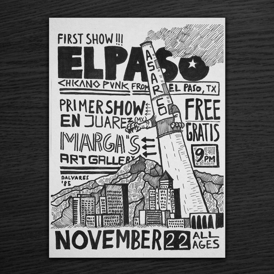 A flyer promotes ELPASO's first show.
