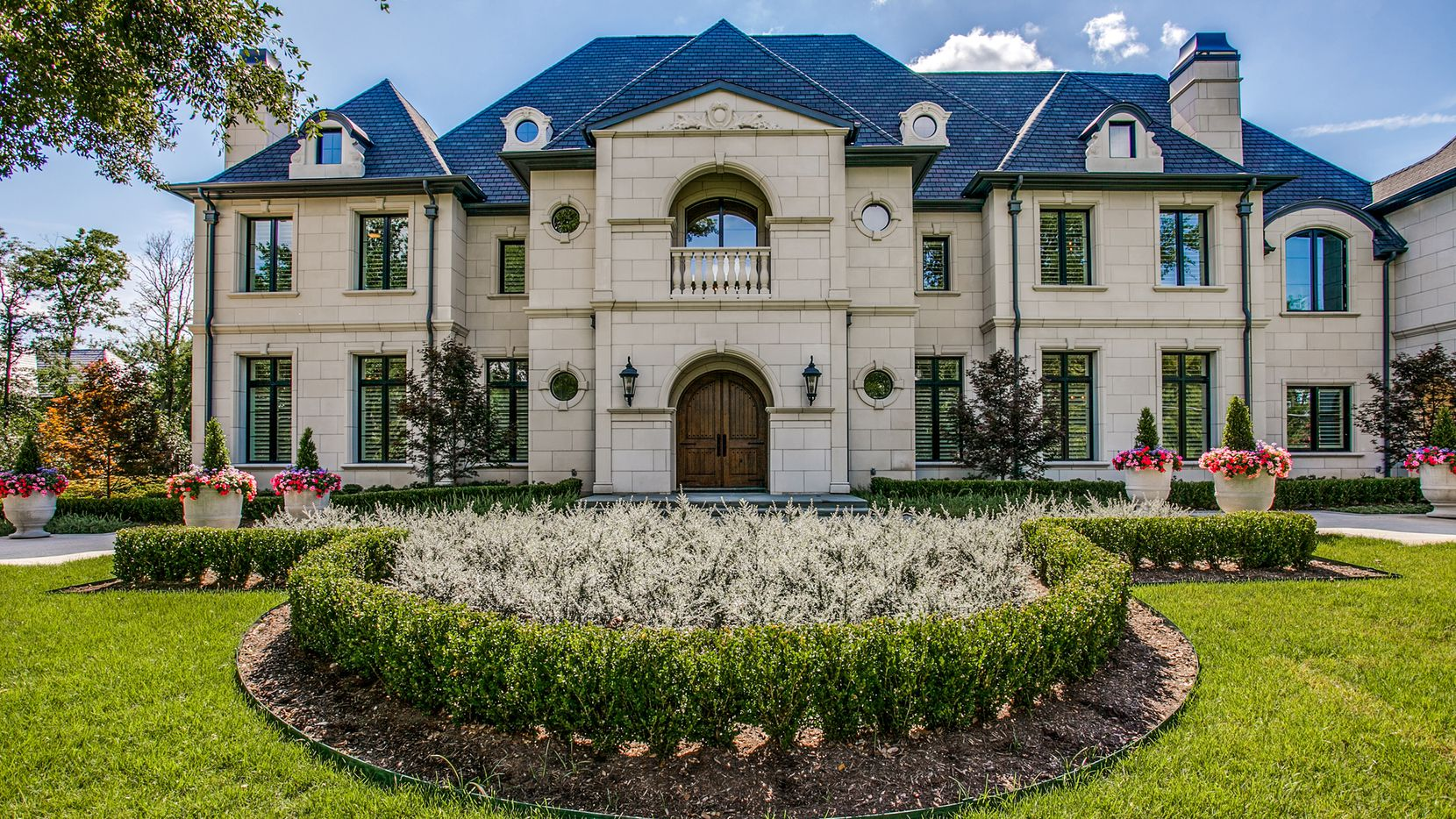 The estate at 10515 Lennox Lane was built in 2018. Features include six bedrooms, a top-of-the-line kitchen and a five-car garage with outlets for electric cars.