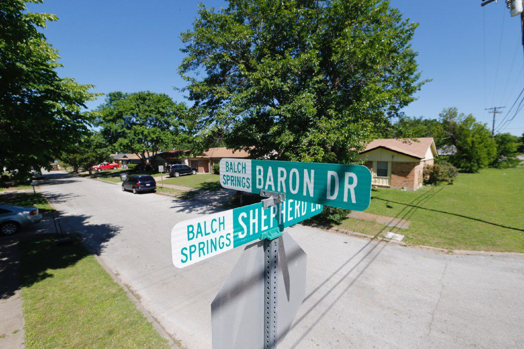 Intersection of Baron Drive and Shepherd Lane close to where a Balch Springs police officer shot and killed 15-year-old Jordan Edwards in Balch Springs on Saturday.