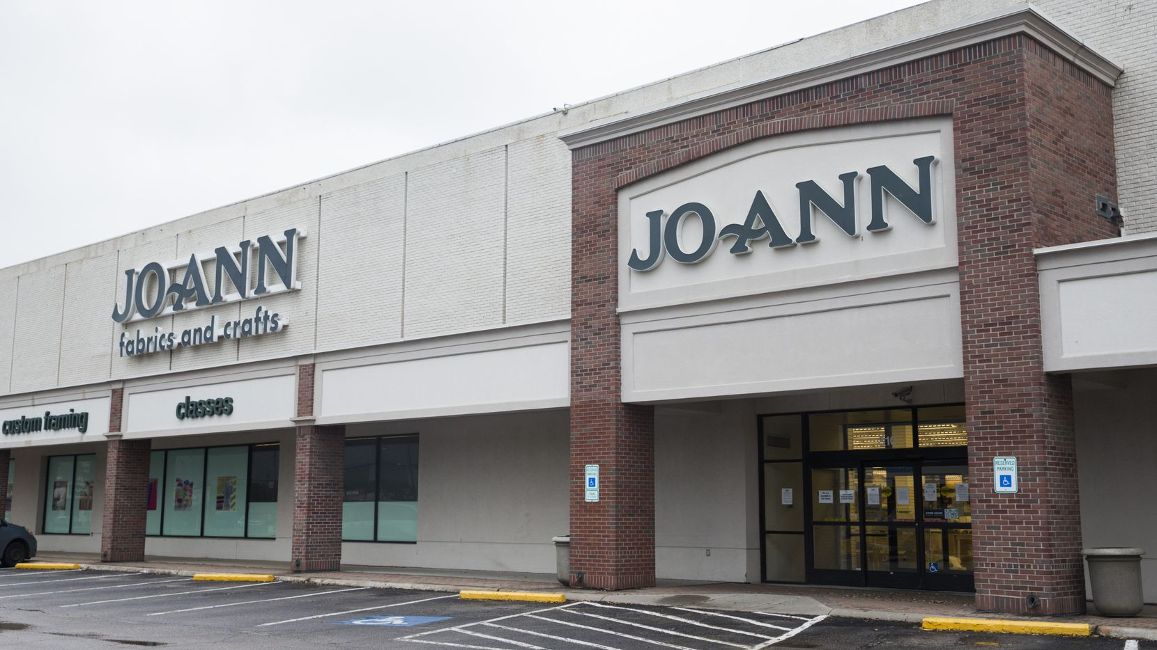 The two-level Joann store in Dallas at Preston Road and Forest Lane is one of the Ohio-based chain's biggest.