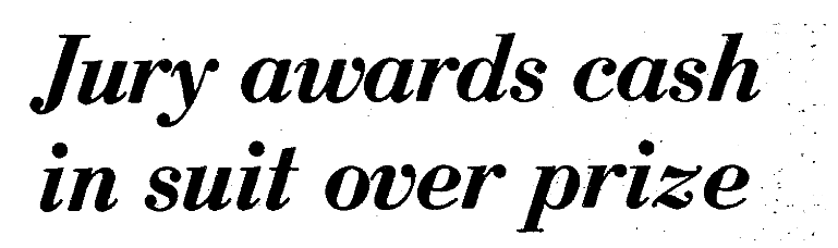 Headline from story by Steve McGonigle published March 21, 1981