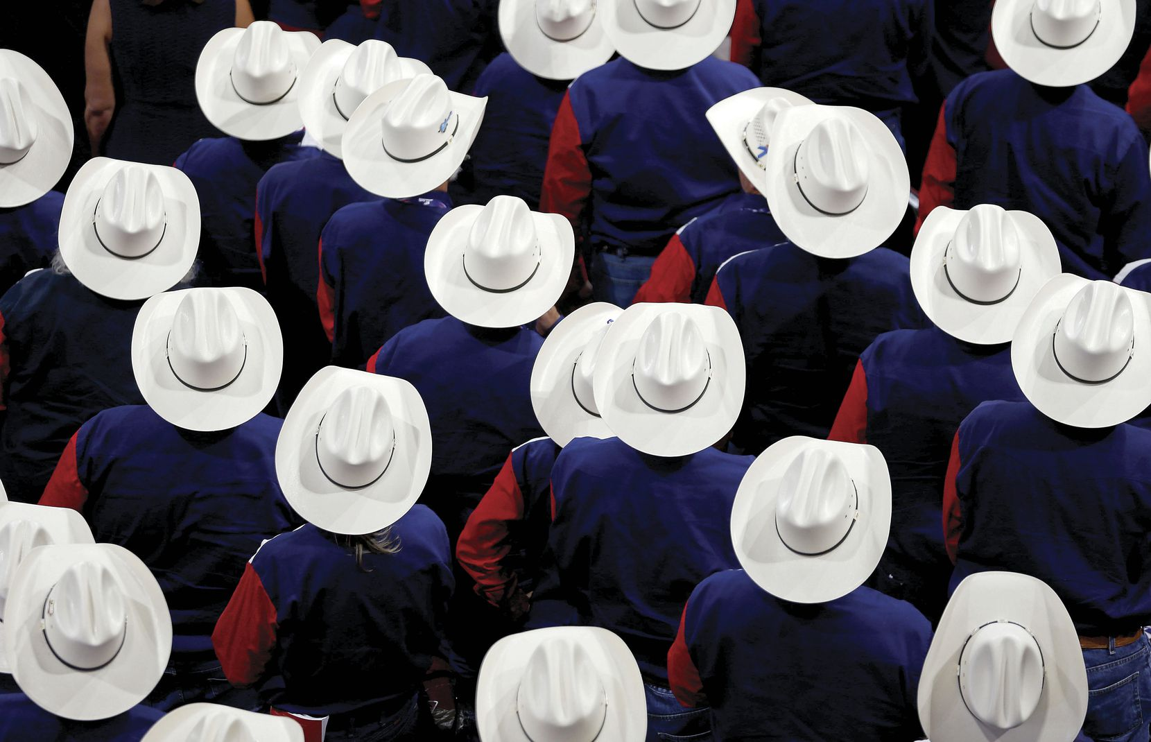 The Texas delegation was hard to miss during the convention's opening day on July 18 at Quicken Loans Arena.