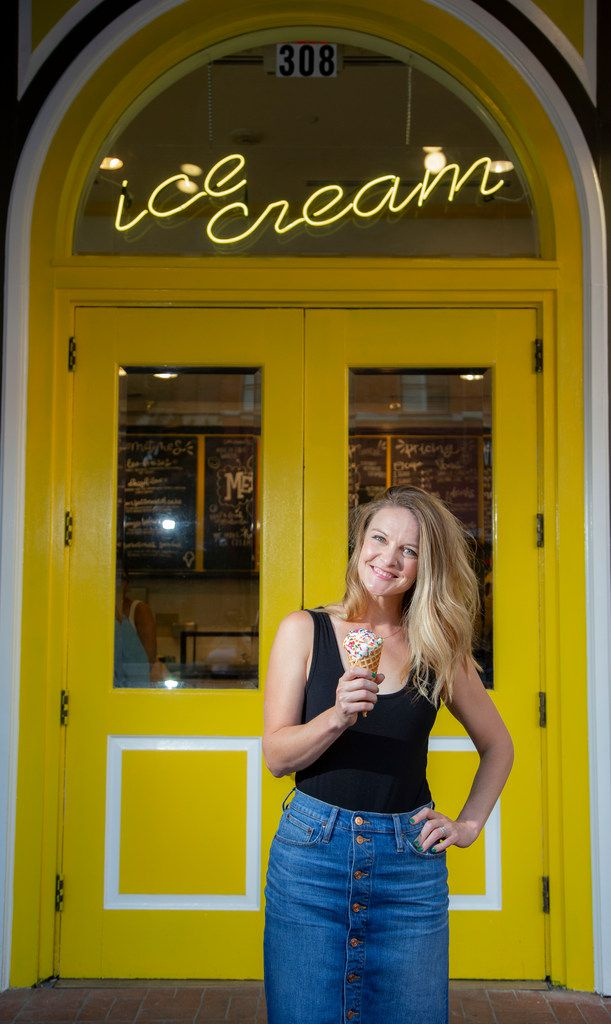 Melt Ice Creams owner Kari Seher poses for a photo at her new Sundance Square location in Fort Worth.