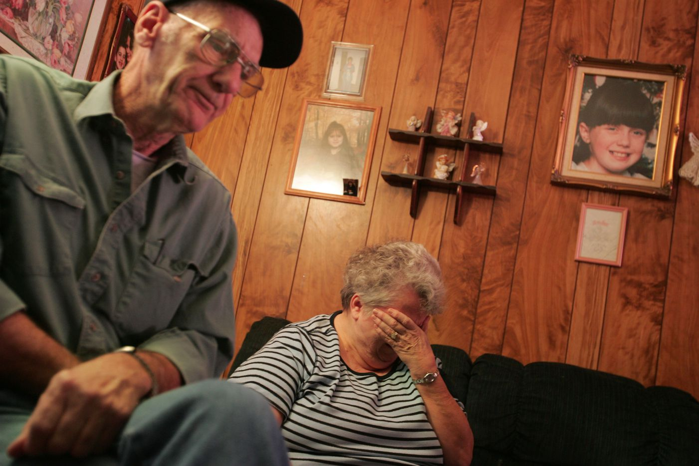 Jimmie and Glenda Whitson, grandparents of Amber Hagerman, reflect Jan. 9, 2006 on Amber's abduction and murder ten years earlier, while at their home in Arlington.