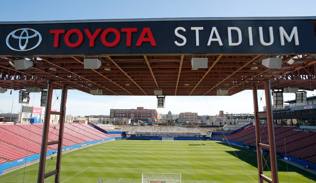 Construction continues on the south end of the stadium where the future home of the National Soccer Hall of Fame Museum will stand at Toyota Stadium in Frisco on Thursday, March 2, 2017. The stadium renovations have surpassed $39 million in a partnership with the City of Frisco, Frisco ISD and Hunt Sports Group.