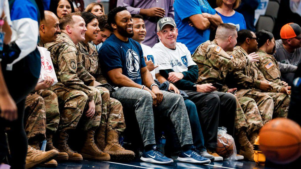 The Dallas Mavericks hosted their 15th annual Seats for Soldiers event on Nov. 6, during which Mavs season ticket members gifted their courtside seats to wounded service members.