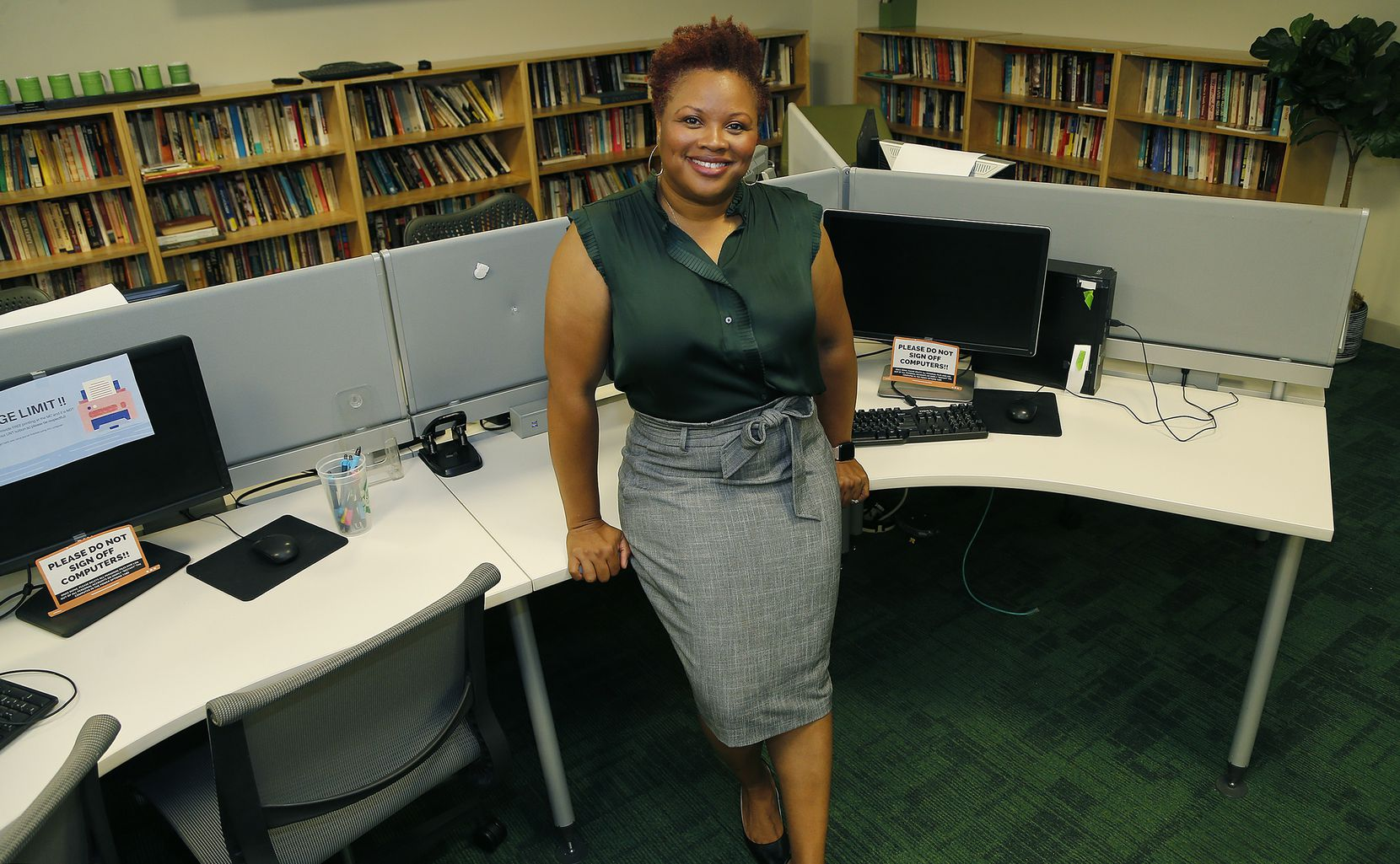 Chandra Carey, academic associate dean, inside the student union building on the UNT campus on Friday, July 2, 2021.