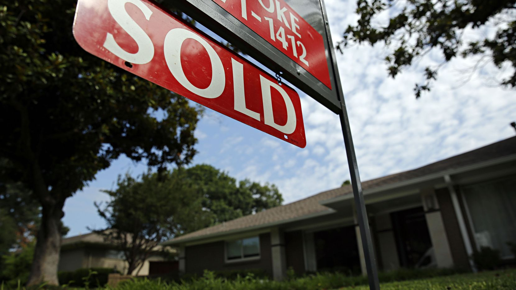 Dallas-area home prices were up 6.4 percent in February from a year earlier, according to Case-Shiller.