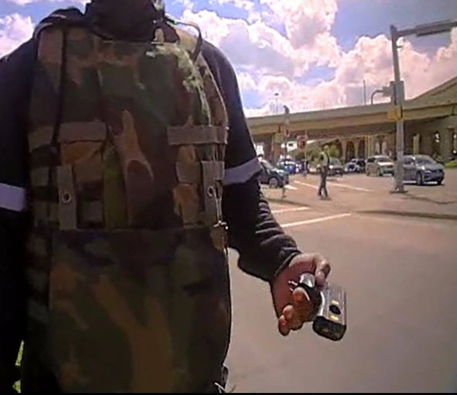 Police said a device seen in the video was a stun gun.