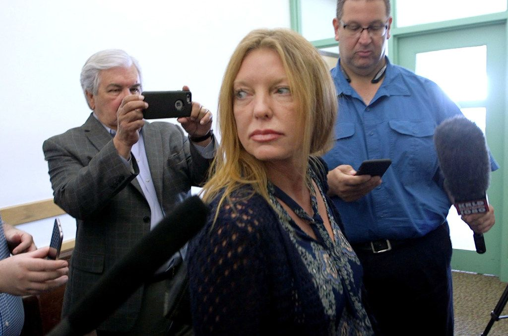 Tonya Couch leaves a hearing at Criminal District Court No. 2 on Thursday.