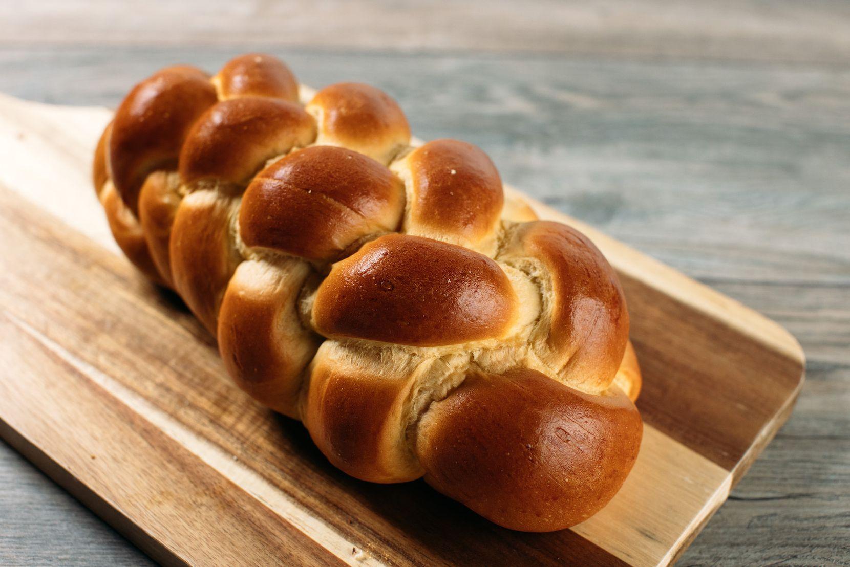 Eatzi's Hanukkah menu includes braided challah.