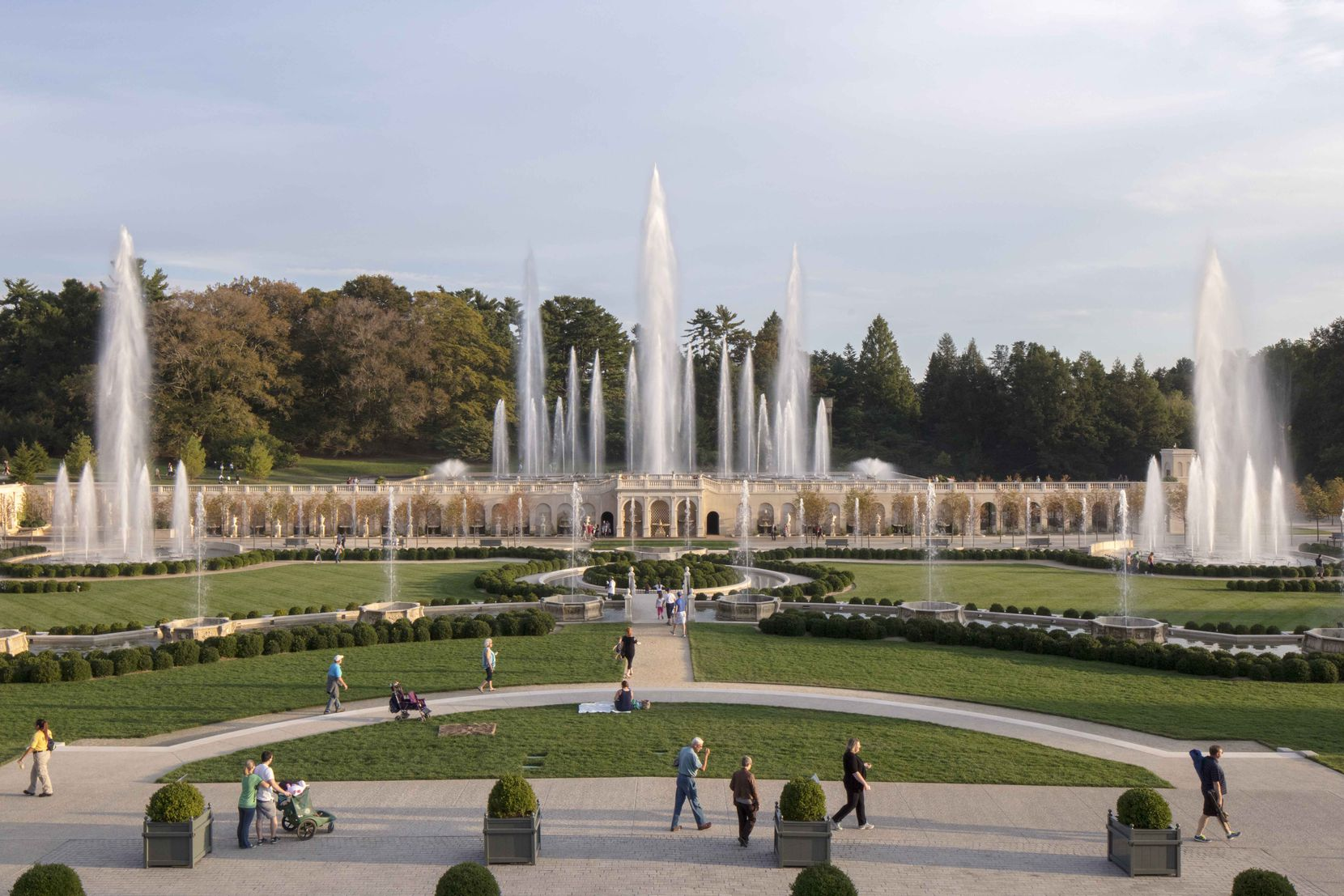 Jim Garland, founder of Fluidity Design Consultants in Los Angeles, transformed the main fountain garden of Longwood Gardens, the former estate of industrialist Pierre S. du Pont in Kennett Square, Pa. The redo, which cost $90 million, is considered an aquatic masterpiece.  ,