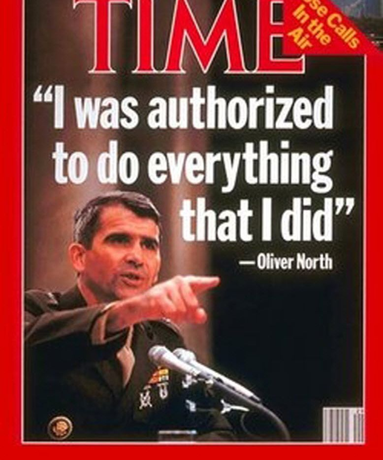 Copy of Time magazine cover of Oliver North in Iran-contra investigation.  Email: medgar@dallasnews.com Phone: 2149778970  Byline: Time  Submitter: Mark Edgar Timestamp: 2012-06-13 17:01:14 Section: POLITICS_NPO 06172012xNEWS