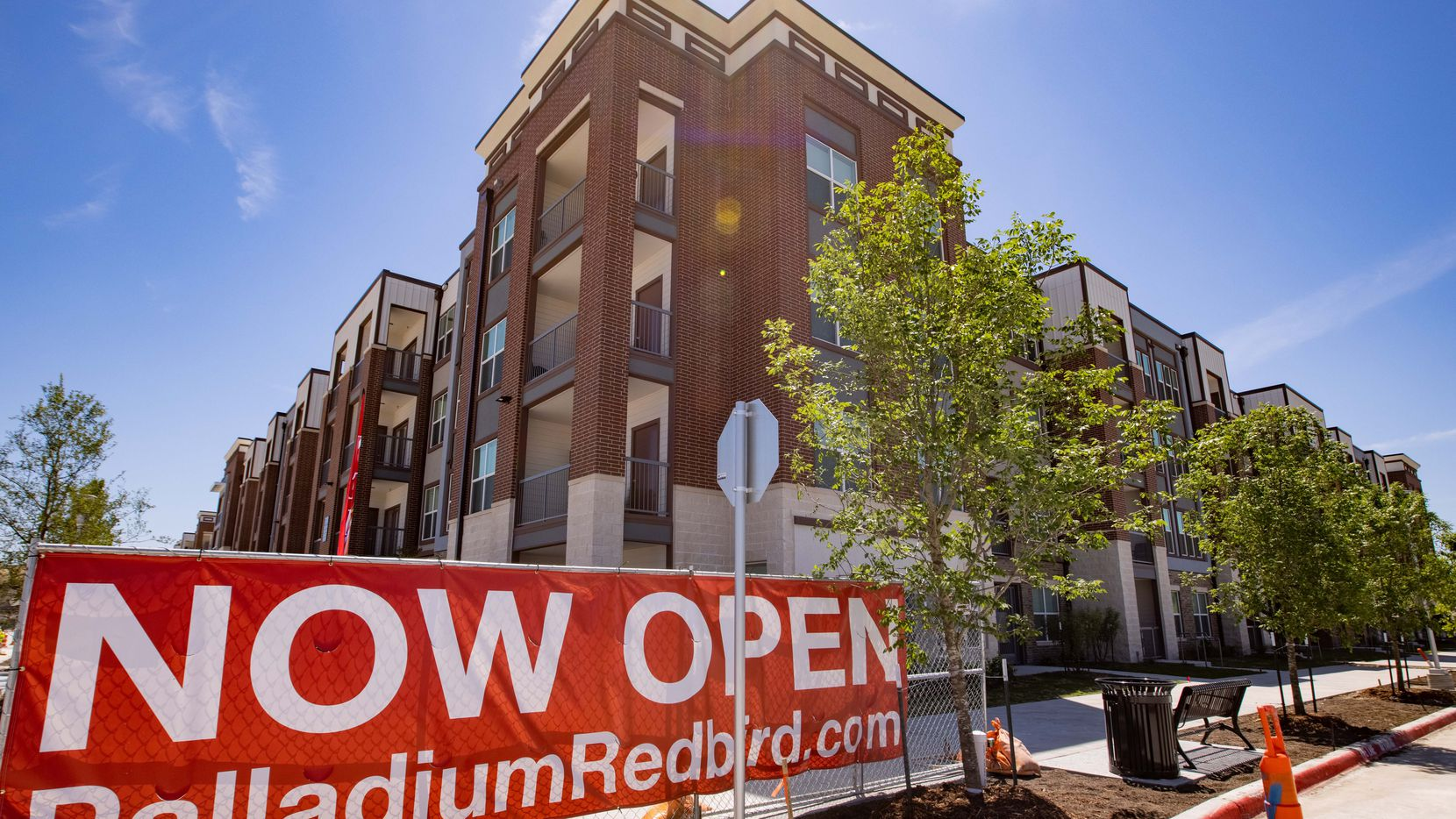 The exterior of the Palladium RedBird apartments on May 7, 2021, in Dallas.