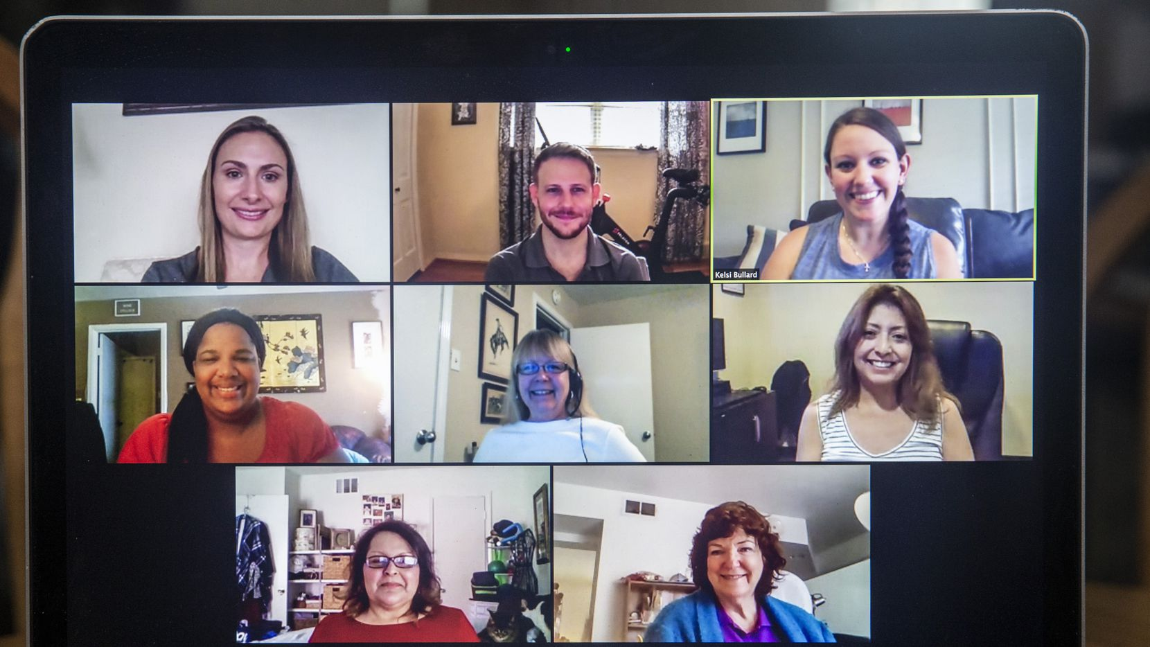 The VPay Inc. social team plans upcoming employee initiatives and events over a Zoom video conference call, on Wednesday, Sep. 2, 2020.