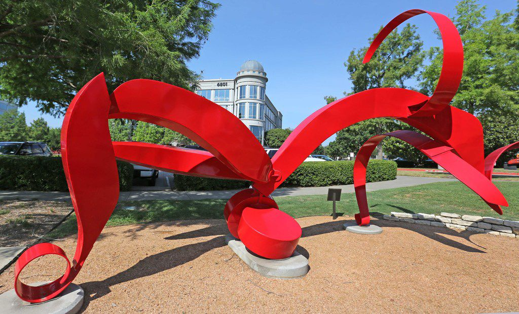 Some of the sculpture on display at Hall Park in Frisco.