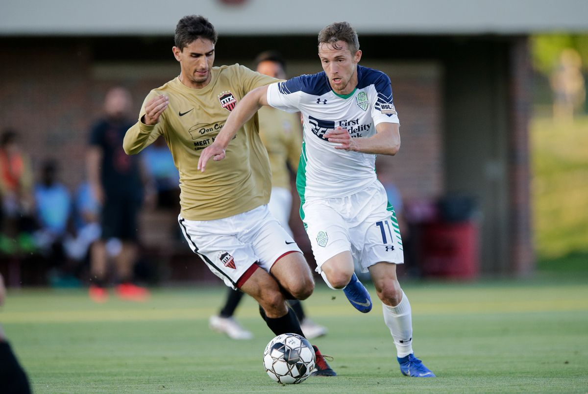 May 14, 2019: OKC Energy FC plays the NTX Rayados in the second round of the US Open Cup at John Crain Field at the OU soccer complex in Norman, Oklahoma.