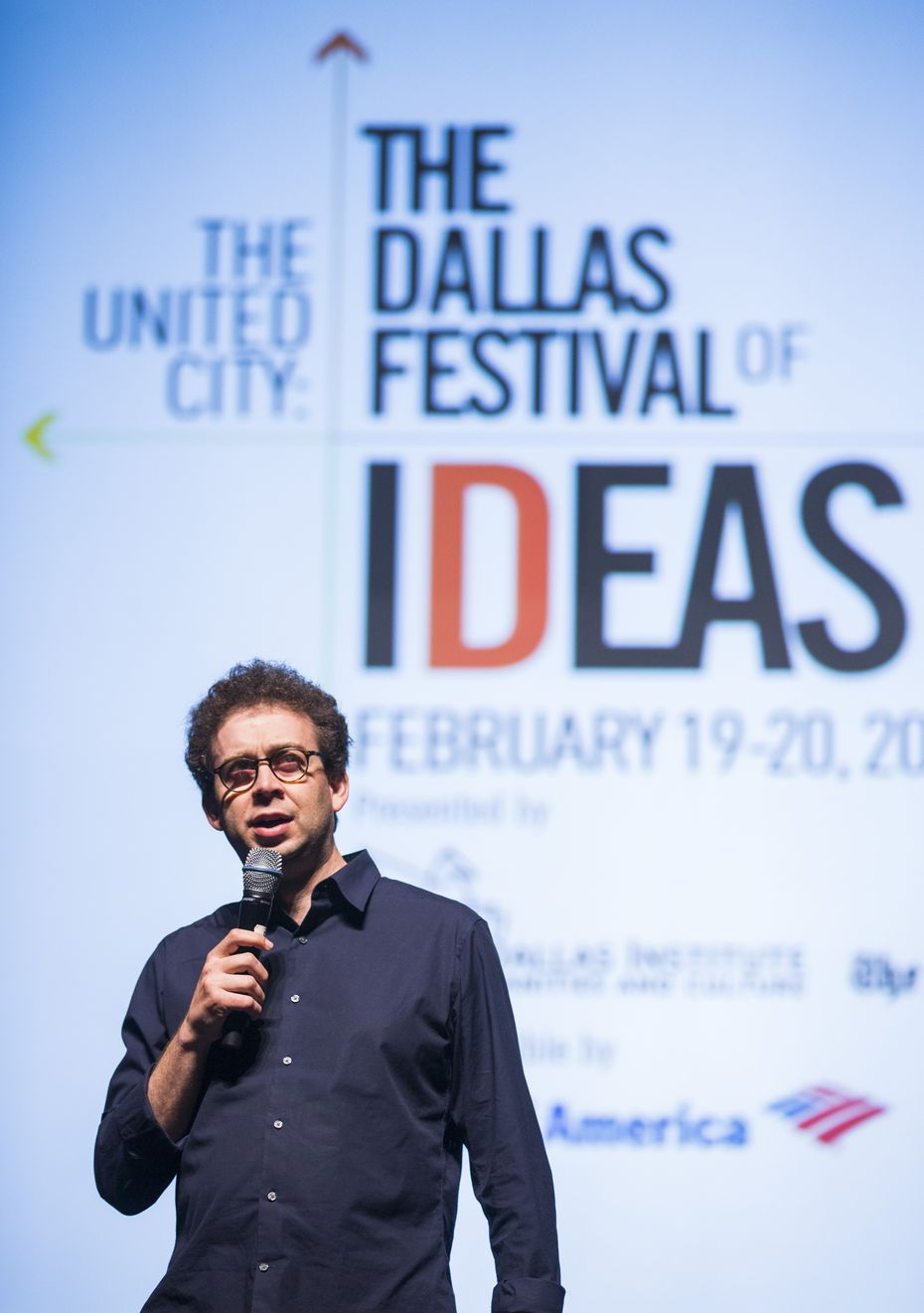 Lamster in 2016 leading a panel discussion in Fair Park for the Dallas Festival of Ideas.