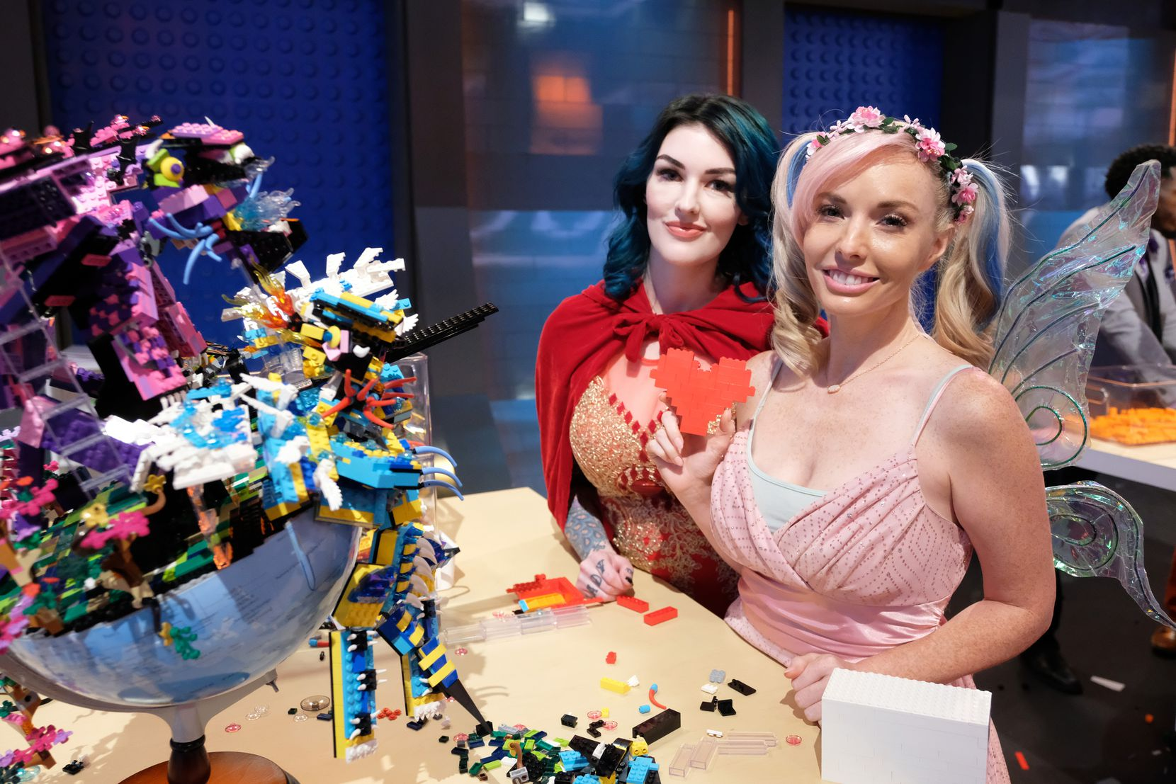 """Amie Dansby (left) and Krystle Starr appear in Fox's hit TV competition series """"Lego Masters"""" as Team Unicorn."""