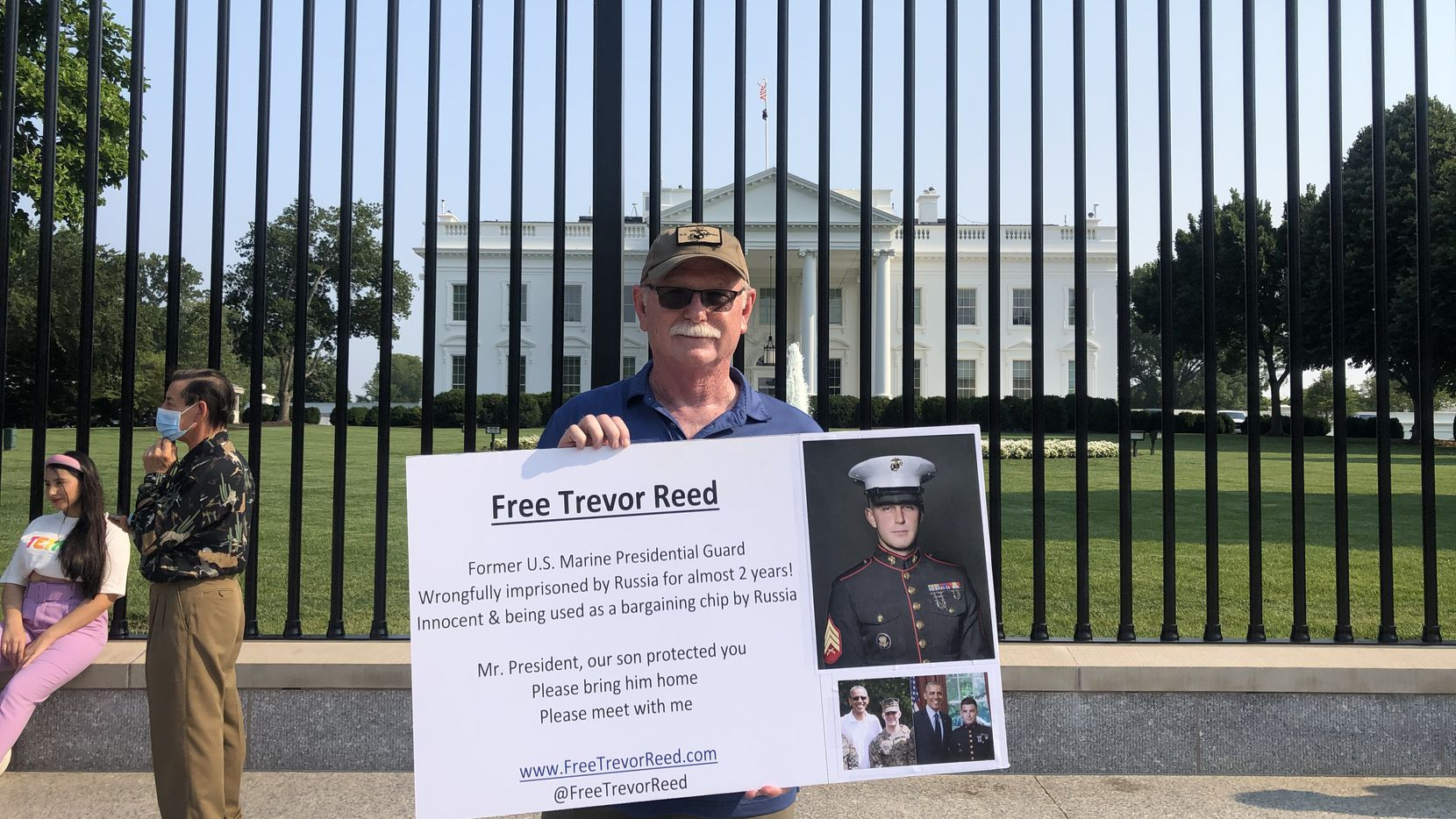 Joey Reed, a former Marine and longtime firefighter, has been tirelessly campaigning for his son's release for nearly two years. Trevor Reed was arrested in Moscow in 2019 and is serving a 9-year prison term.