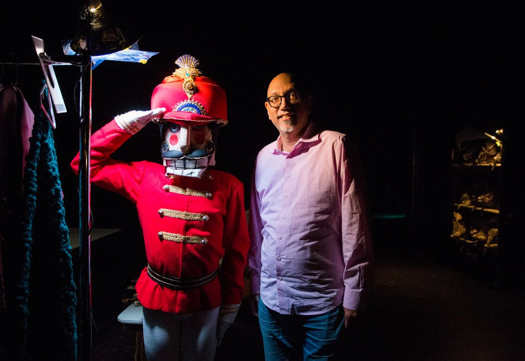 Manuel Mendoza poses for a photo with Drake Humpheys as the Nutcracker backstage at a dress rehearsal for Texas Ballet Theater's November 2017 production at Winspear Opera House. Mendoza saw the ballet for the first time that year and learned how it evolved into a holiday staple.