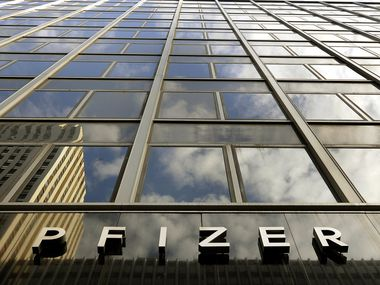 The Pfizer headquarters on 42nd Street in New York.