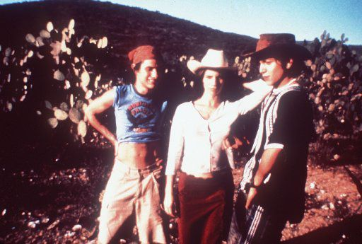 Actors Gael Garcia Bernal, left, Maribel Verdu, center, and Diego Luna in  Y Tu Mama Tambien, directed by Alfonso Cuaron.