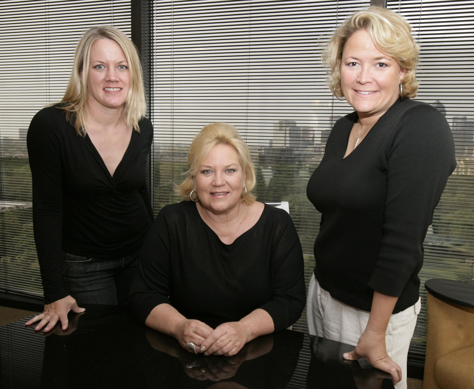 Left to right: Angela Reed Shellene, Carol Reed and Laura Reed worked together at The Reeds Public Relations Corp. in Dallas.