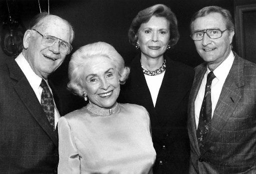 From left: Trammell and Margaret Crow, Ruth Sharp Altshuler and Ken Altshuler are seen in a Dallas Morning News Fete Set photo from 1992.