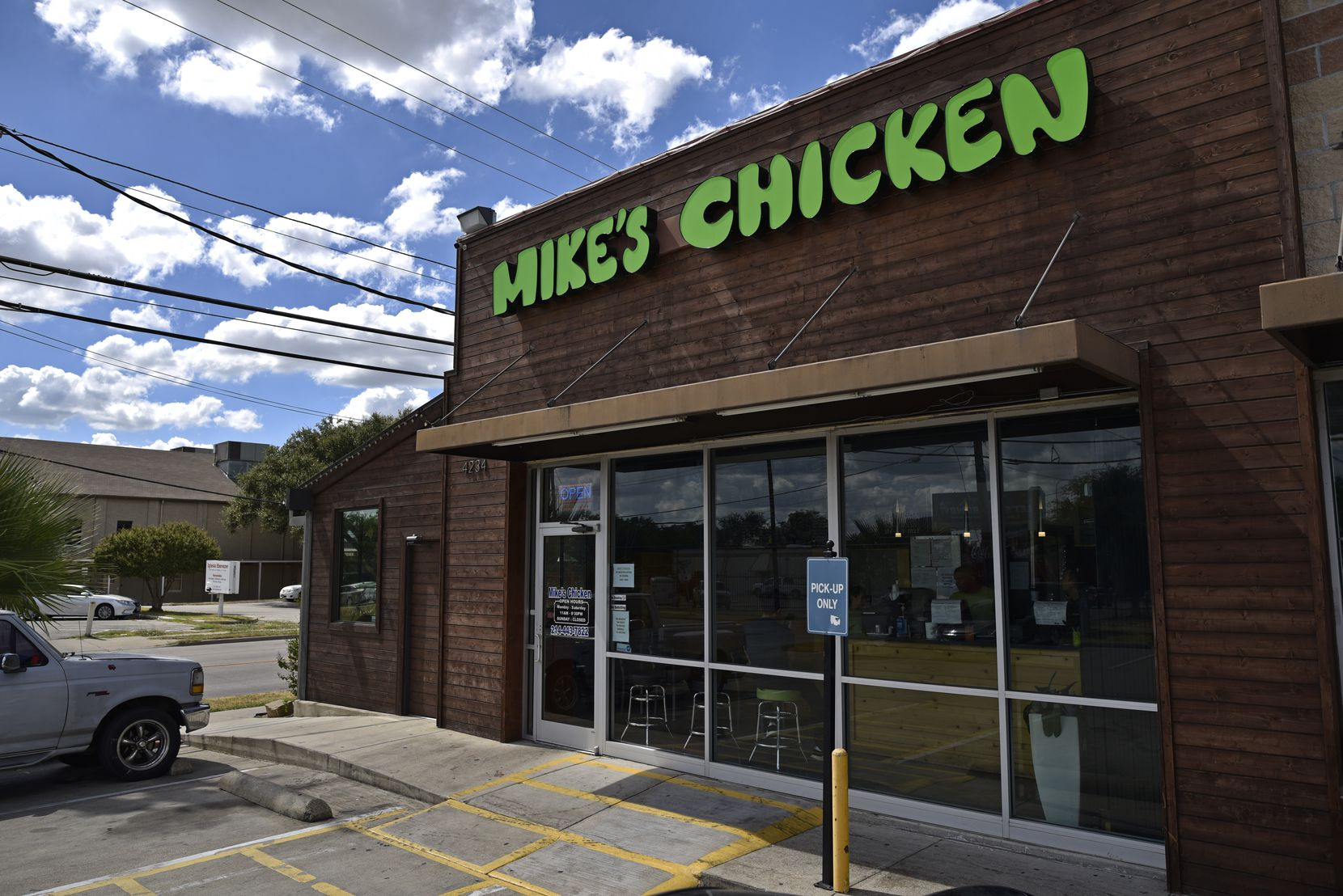 Mike's Chicken is a popular restaurant on Maple Avenue in Dallas.